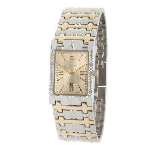 61538: Men's Personalized Diamond Accent Two Tone Watch
